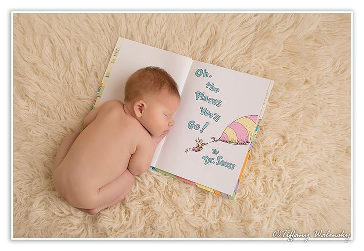 Tiffany Walensky Photography, valrico newborn photographer, valrico newborn photography, baby boy infant profile studio lighting pose posing posed creative fun modern colorful ivory flokati ideas props book dr seuss whimsical reading bookworm