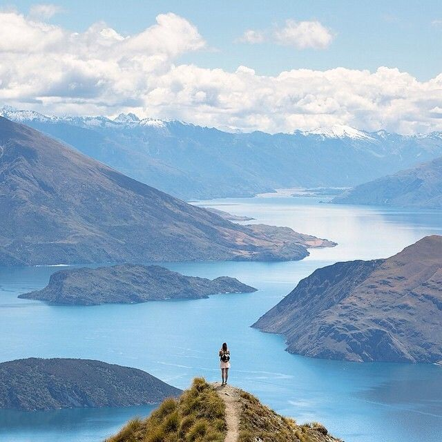 from Roys Peak above Lake Wanaka New Zealand