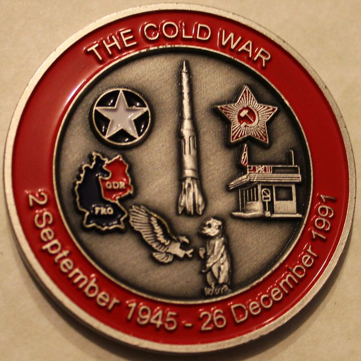 Cold War VETs Challenge Coin Army Navy Marine Air Force