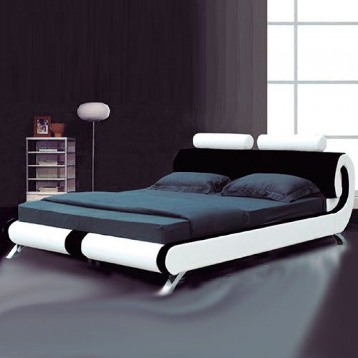 Paris Modern Italian Designer Leather Bed - Luxury Leather Beds - Beds.co.uk - The Bed Outlet