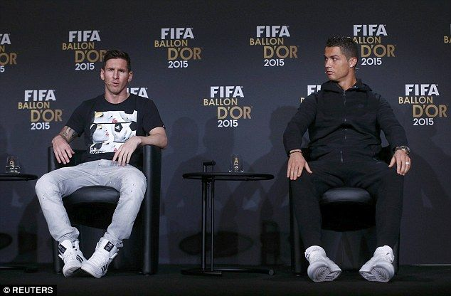 Messi (left) is gunning for a fourth Ballon d'Or award and has been named FIFA's world's best player four times