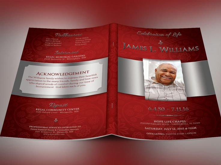 427 best images about Best Creative Funeral Program Templates for – Funeral Program Background