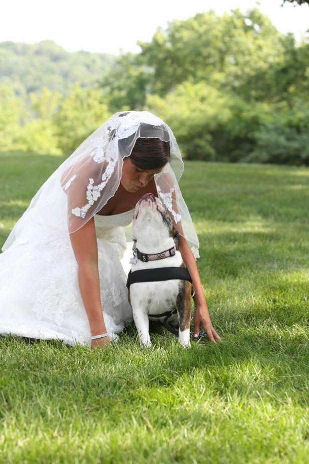 So adorable! Wedding photos with the dog.