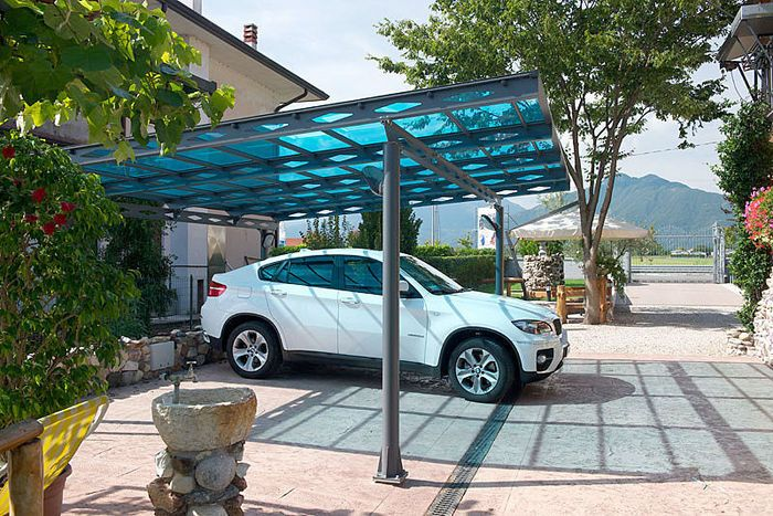 Carport With A Flat Roof Polycarbonate Carport Garage
