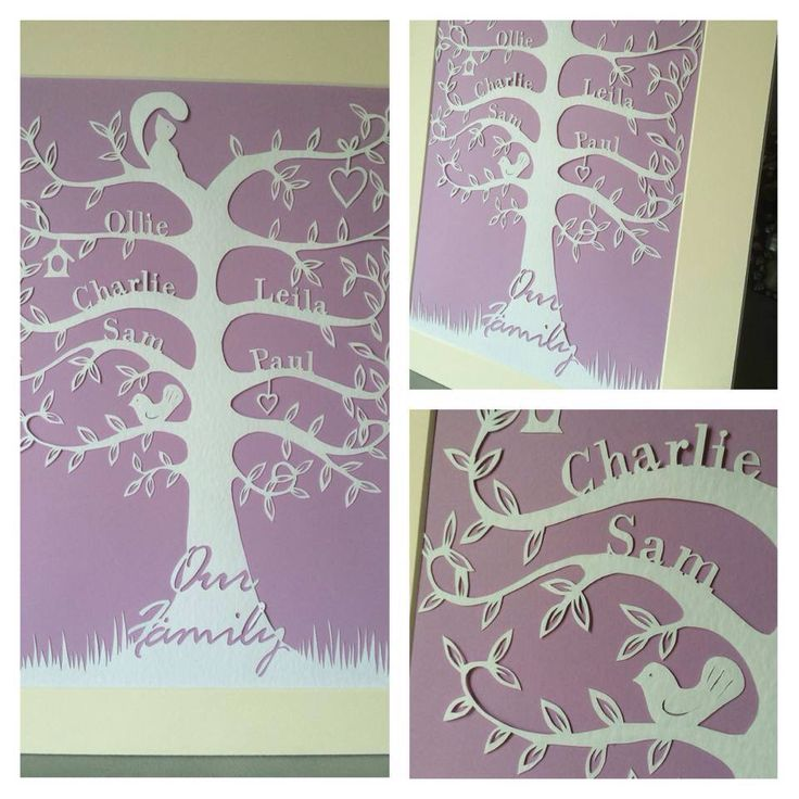 Cut from 100gsm hammered paper, can include up to 8 names. Various colour options available from www.Facebook.com/2LittleDickyBirds