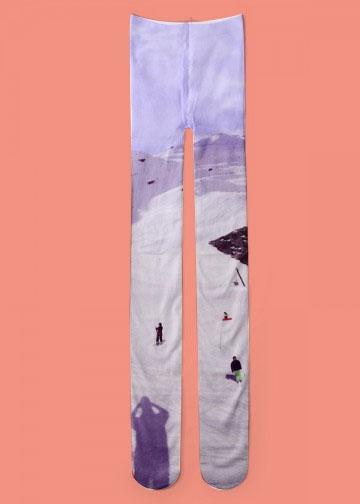 Look 2 : Tights ski,  Tsumori Chisato