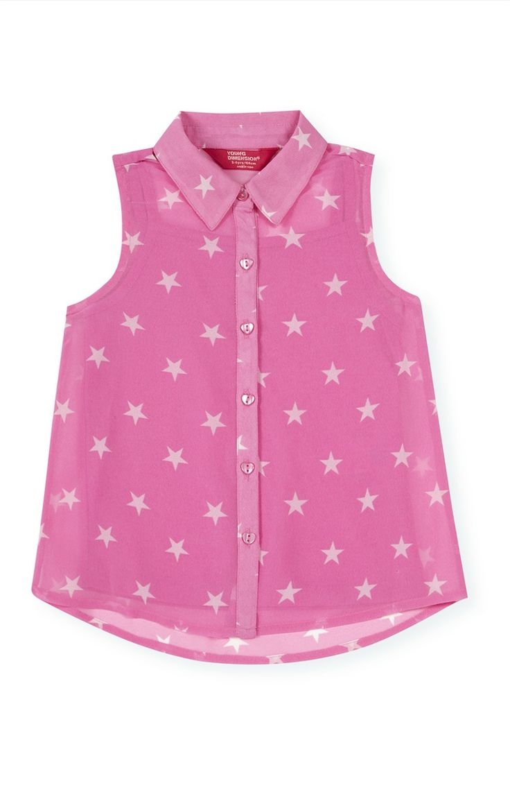 Primark - Roze topje met sterrenprint 3-4 jr