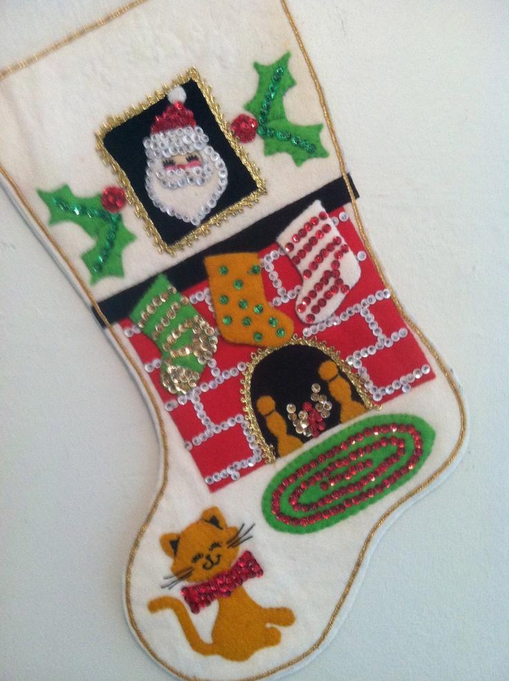 Vintage Bucilla Christmas Stocking