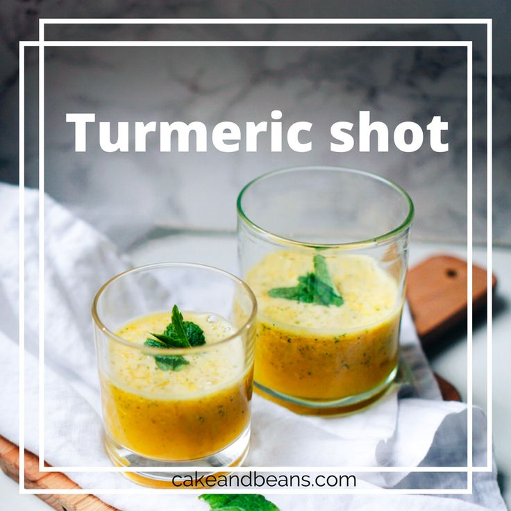 A healthy vitamin filled turmeric shot to battle the flu!