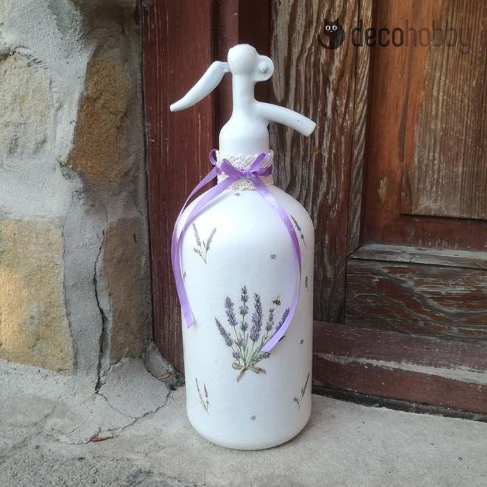 Levendulás szódásüveg - Bouquet of Lavender   DecoHobby