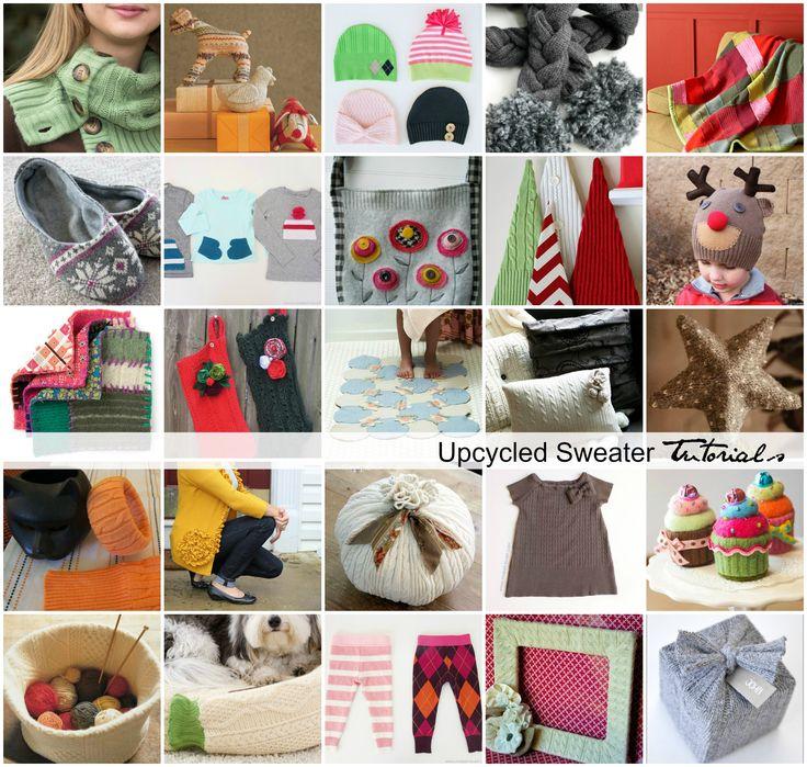 Handmade Baskets Tutorial : Upcycled sweater tutorials handmade gifts