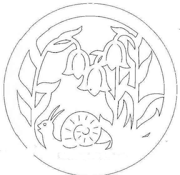Harangvirág és csiga filigrán