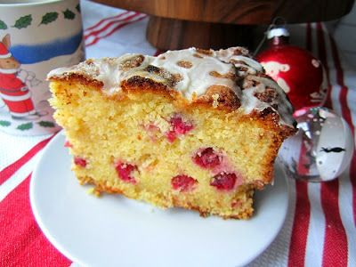 Stacey Snacks: Cranberry Orange Cornmeal Ricotta Cake for Christmas