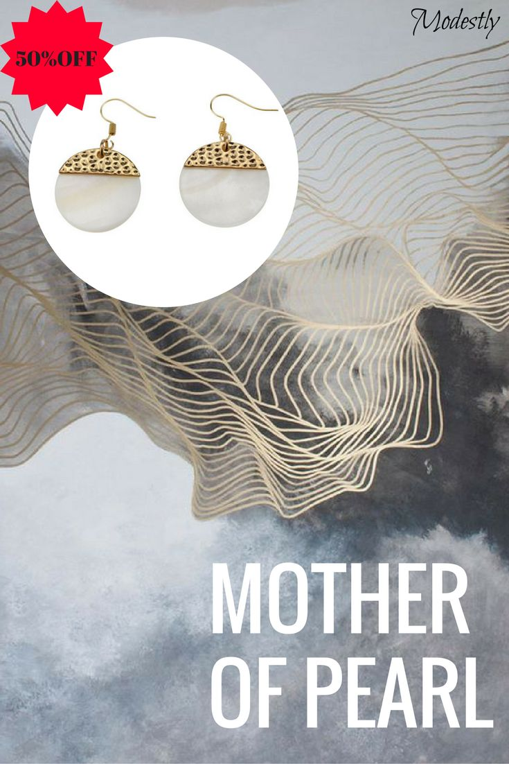17 best our sales images on pinterest coupon codes code free get these gold and mother of pearl earrings for 50 off with discount code fandeluxe Choice Image