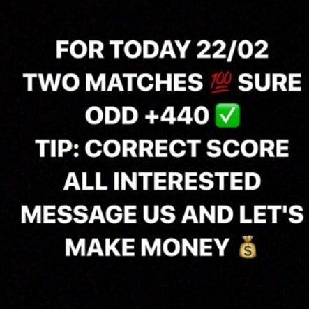 Congratulations to our subscribers that won our 2 sure fixed matches today games is another 2 sure winning  if you want to be among the big winners and you know you want to win today 2 sure matches   DM call or WhatsApp me to know how you can be our subscribers 2347067290852.#koggistate #lagosstate #calaba#abuja #fct #phyno #wizkidnews #wizkidday #wi#gameofthrones…
