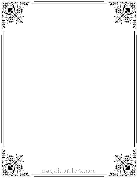 Printable fancy border. Use the border in Microsoft Word or other ...