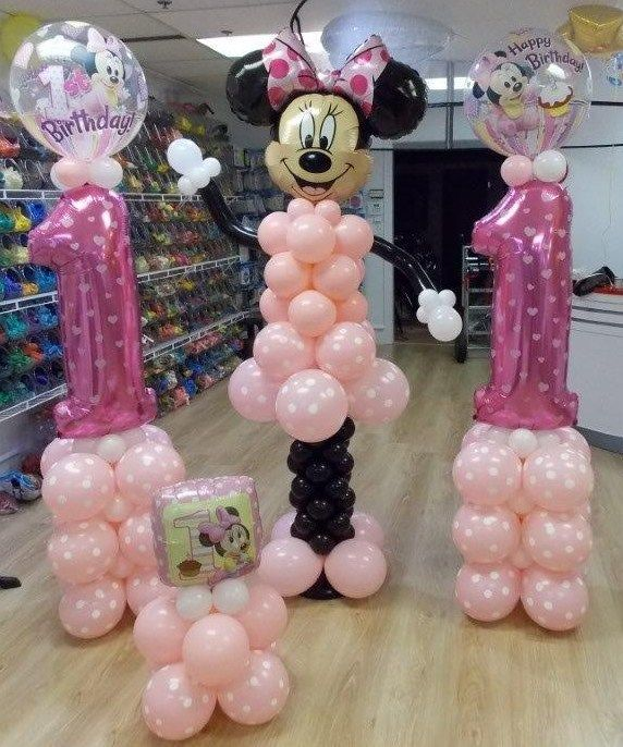 29 best images about balloon place on pinterest princess for Balloon decoration minnie mouse