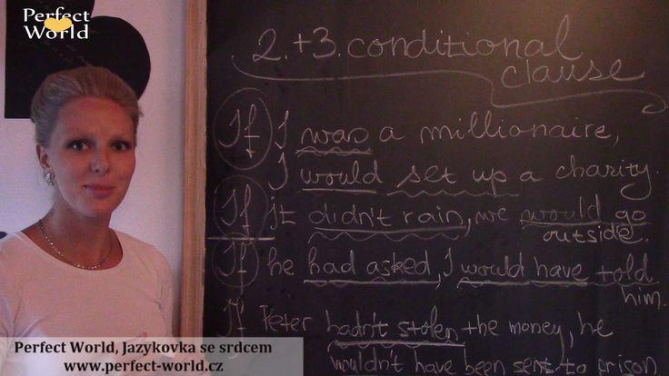 2. a 3. podmínka - umíte je používat? Pletou se Vám všechny podmínky do hromady?  Pokud si nejste úplně jisti, jak anglické podmínkové věty fungují, mrkněte na náš videotip, který Vám tentokrát pomůže vyznat se v podmínce 3. a 4. :-) http://www.perfect-world.cz/2.-a-3.-podminka-umite-je-pouzivat