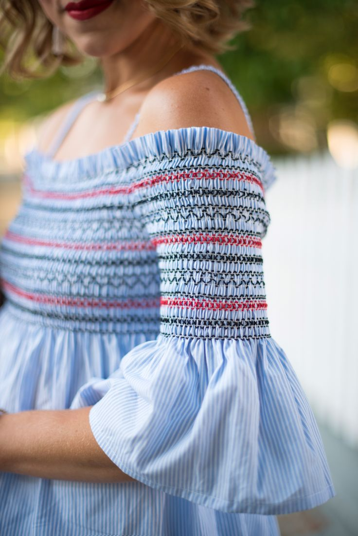Red, White & Blue Smock Top - Click through to see more on Something Delightful Blog.