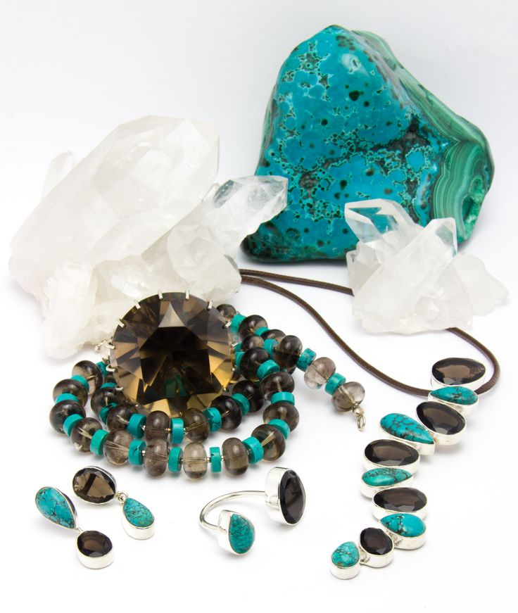 Smoky Quartz and Turquoise Jewellery
