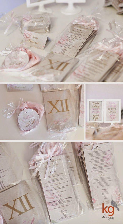 dodatki ślubne z motywem róży, vintage, złote, pudrowy róż,