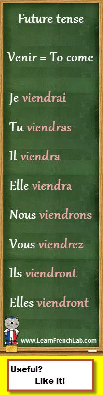 "http://www.learnfrenchlab.com   Learn French #verbs   How to conjugate ""venir"" (to come) in the future tense"