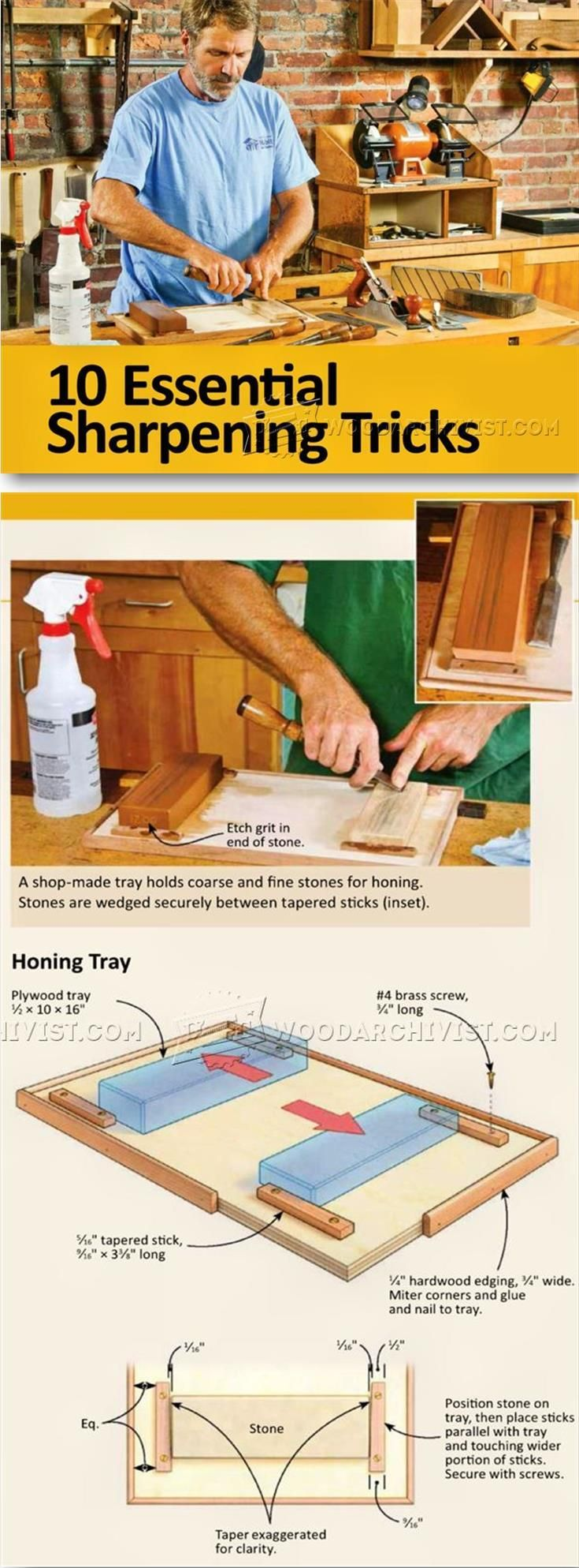 Woodworking Tool Sharpening - Sharpening Tips, Jigs and Techniques   WoodArchivist.com