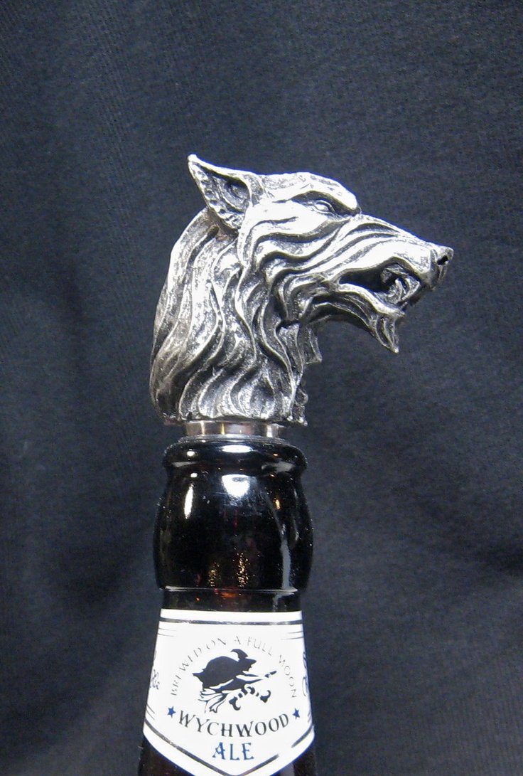 A Song Of Ice And Fire/Game Of Thrones Direwolf Winestopper. $25.00, via Etsy.