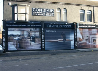 Roll shutters can be an effective way of marketing your business ... even when you are closed!