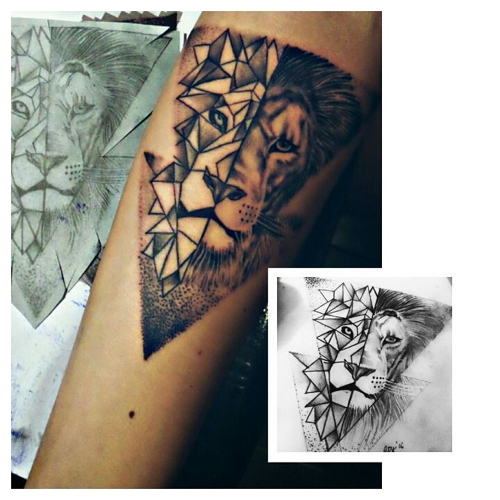 #geometric #aslan #lion #dovme #dovmesanati #dovmeturkiye #liontattoo #tatooed #bodyart #ink #inked