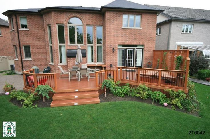 Two-Level Deck Plans   This deck plan is for a large, two level deck with a spa and privacy ...