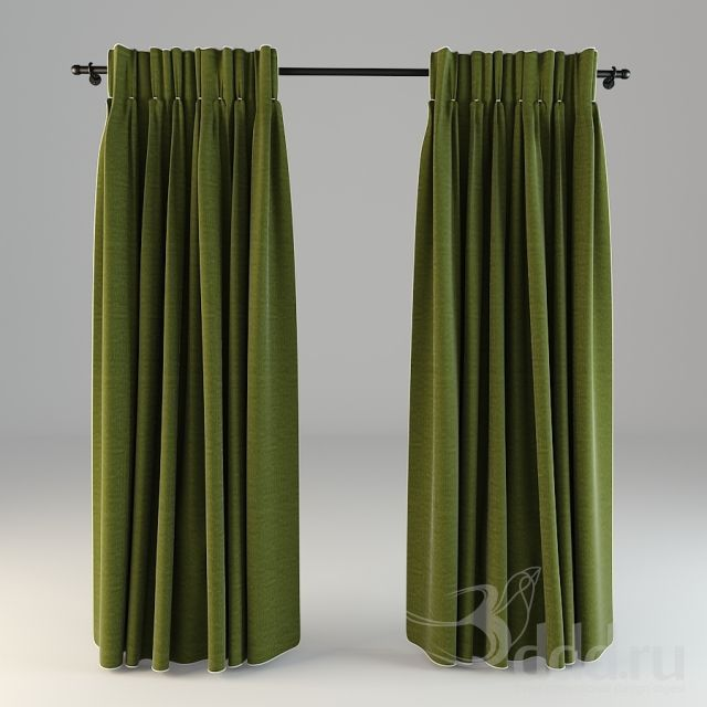 """PROFI"" Green curtain 3dsMax 2012 + obj (Vray) : Шторы : Файлы : 3D модели, уроки, текстуры, 3d max, Vray"
