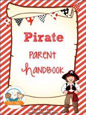 Pirate Theme Parent Handbook Template in PowerPoint Format for #preschool and #kindergarten