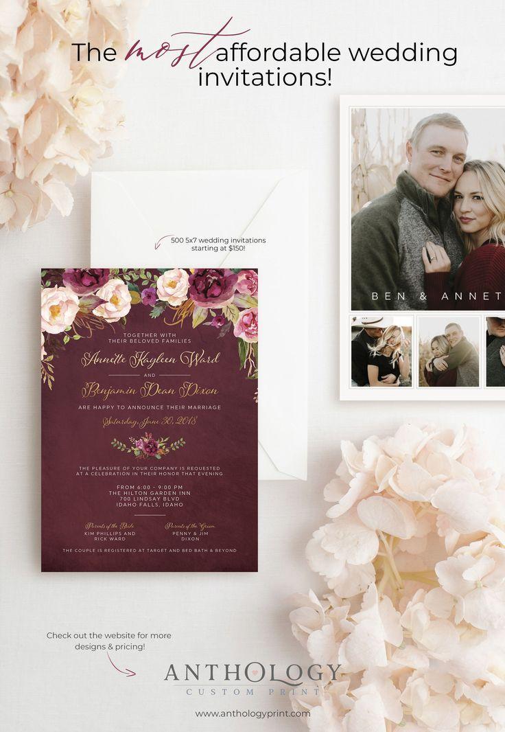 Anthology Print Wedding Invitations Idaho Falls Wedding