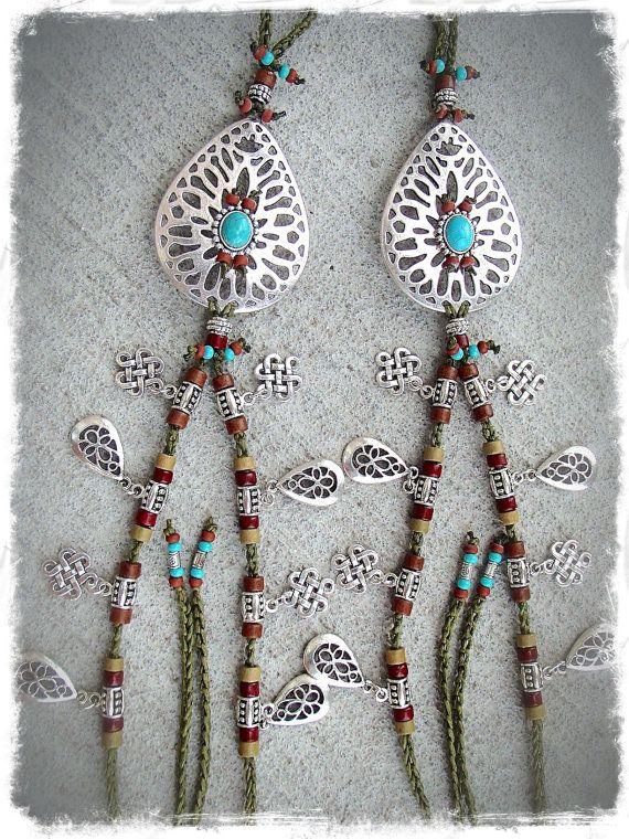 Bracelet de cheville indigènes pieds nus en kaki par GPyoga sur Etsy