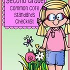 FREE This common core checklist includes all common core standards for second grade. Each page lists the standards and provides six spaces for you to wr...