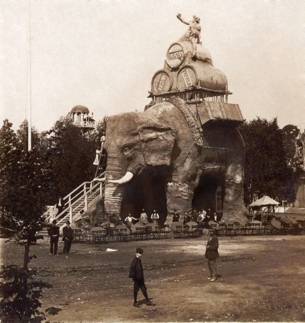 R. Brunner Dvořák - Elephant restaurant in Prague, about 1908
