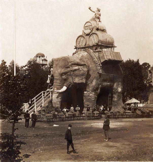 R. Brunner Dvořák - Elephant restaurant in Prague, about 1908