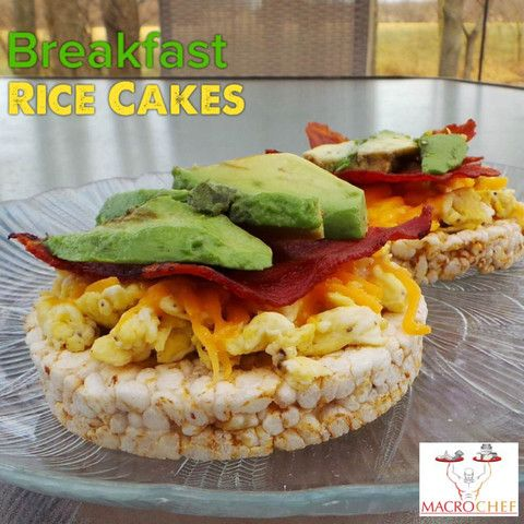 Quaker plain rice cakes topped with almond butter and bananas, and egg and avocado, or greek plain yogurt with fruit: staple for breakfast