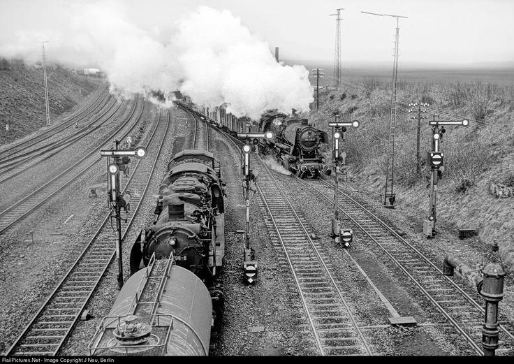 RailPictures.Net Photo: 052 798 Deutsche Bundesbahn steam 2-10-0 at Herzberg, Germany by J Neu, Berlin