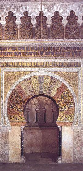 Córdoba༺♥༻Mezquita-Catedral de Córdoba  El mihrab de al-Hakam II  https://www.pinterest.com/source/almendron.com/