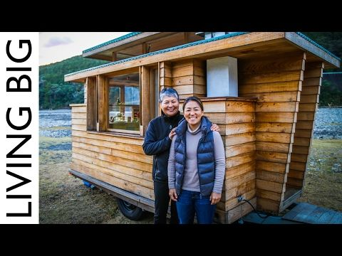 Tagami Haruhiko designer a very tiny house on wheels for a woman and her mother in Japan. YouTube