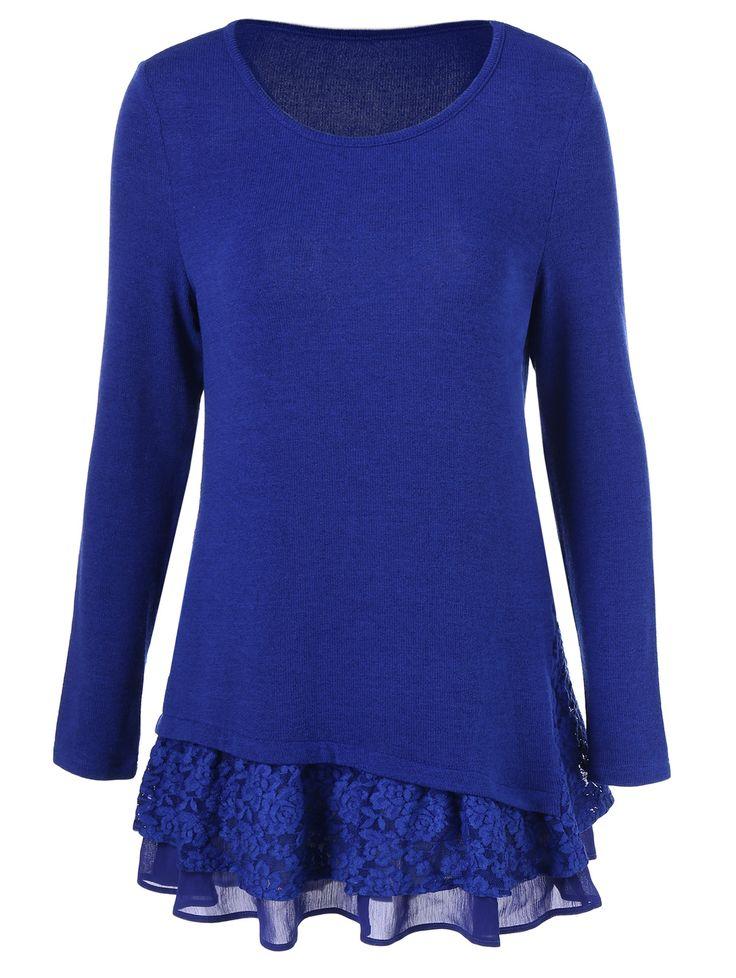 Floral Lace Trim T-Shirt