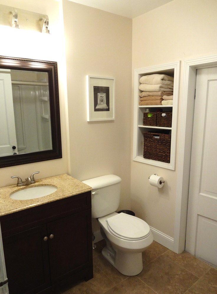 Built In Bathroom Vanity Ideas: 16 Best Small Bathroom Renovation Ideas Images On