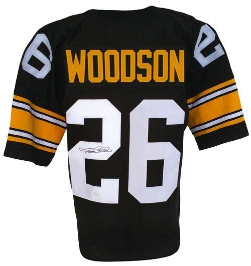 Rod Woodson Signed Custom Black Pro-Style Football Jersey JSA