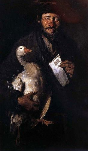 Grigorescu, Nicolae (1838-1907) - Jew With a Goose (National Art Museum of Romania, Bucharest)