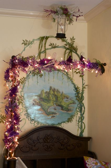 Pixie Hollow.This shown for a bedroom but I could see it on one of the bathroom walls (Neverland).