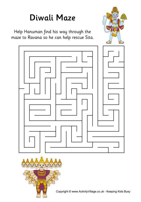 cute Diwali maze for the children