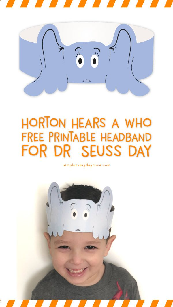 graphic relating to Dr. Seuss Hats Printable named Pin upon Straightforward Every day Mother Printable Pursuits For Small children