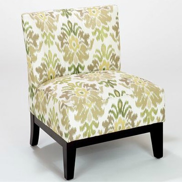 Green Ikat Darby Chair mediterranean chairs